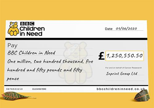 Bespoke Charity Cheques
